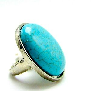 Large Turquoise and silver ring